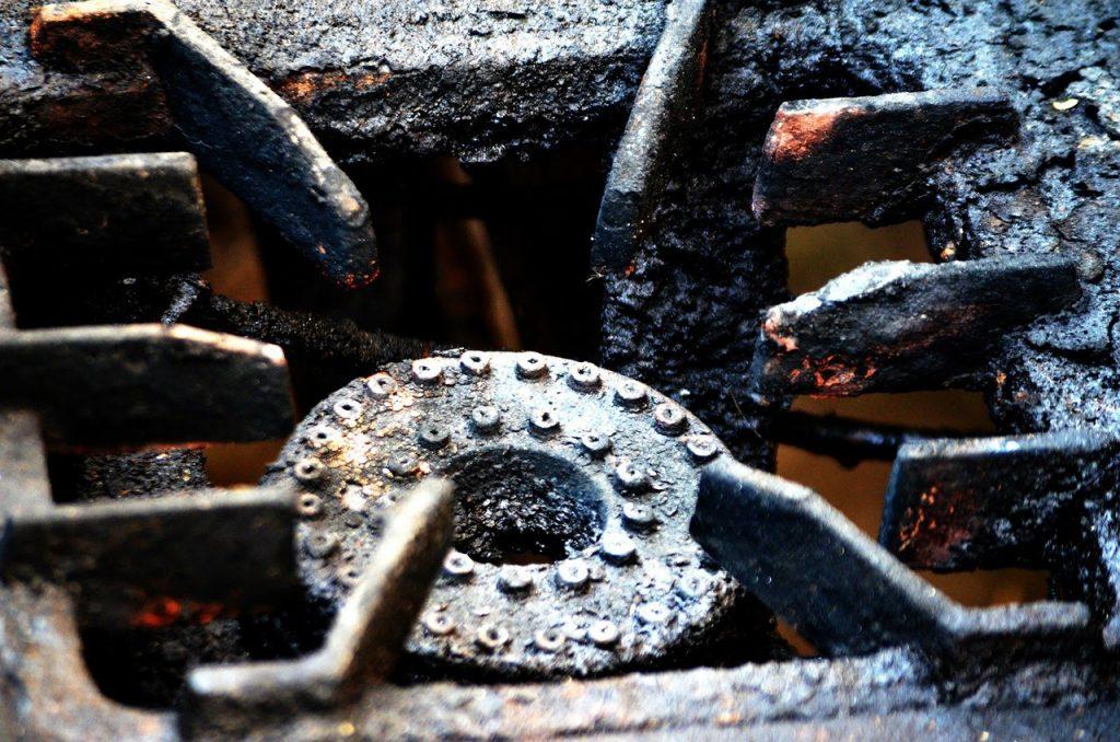 Dirty stove burner