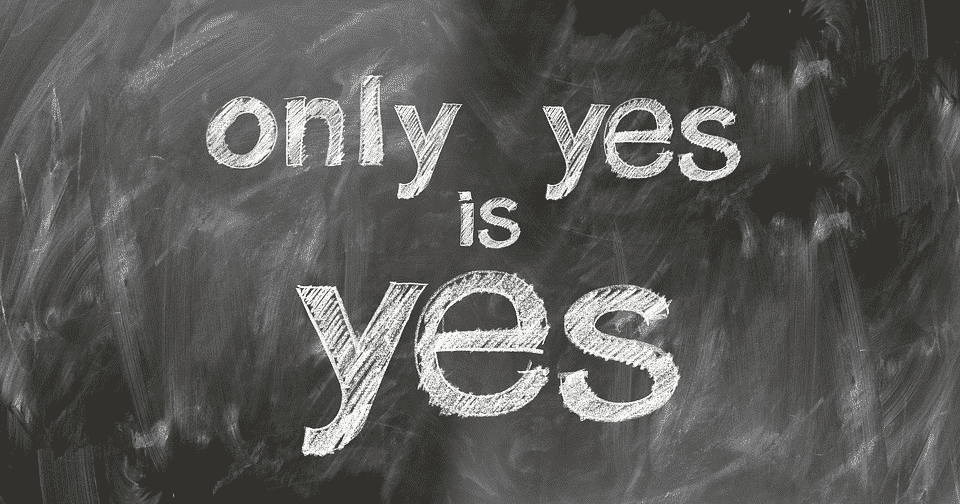 only yes is yes message