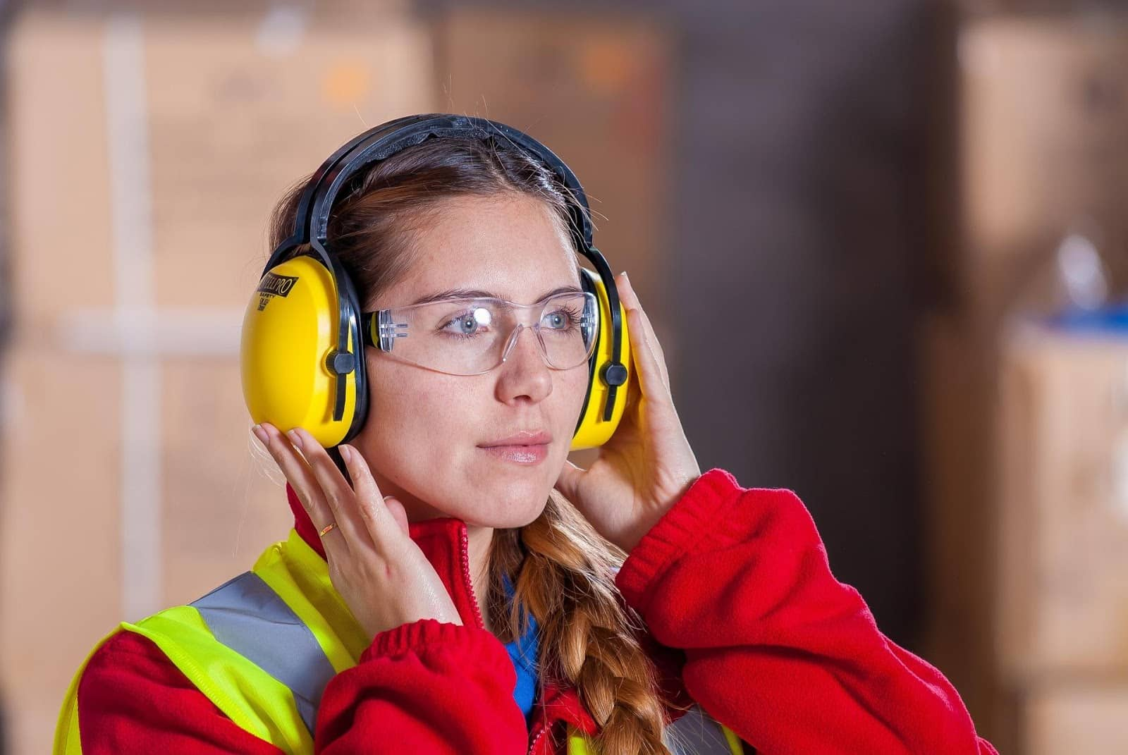girl in a safe Workplace
